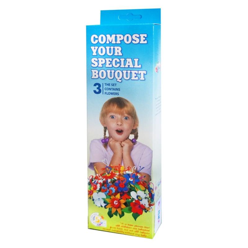 """Набор для творчества Букет цветов 3 штуки (385) купить в магазине """"Пустун"""""""