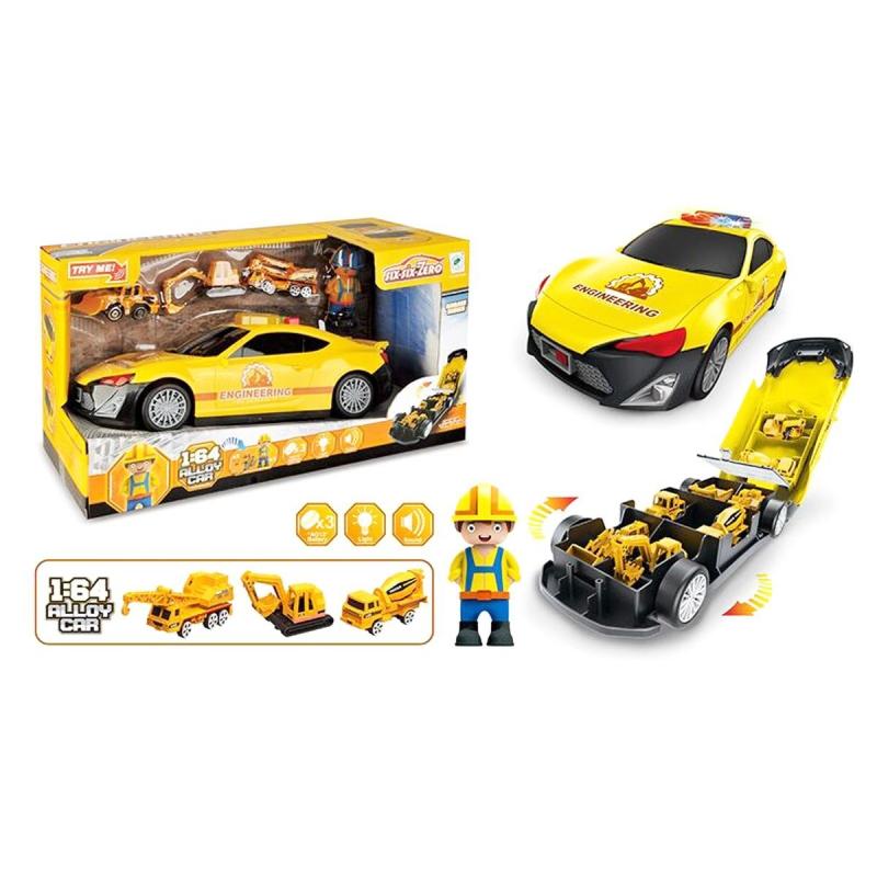 """Машинка  гараж (желтая) купить в магазине """"Пустун"""""""