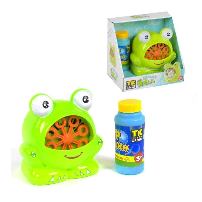 """Машинка для мыльных пузырей """"Лягушка"""" 21383 купить в магазине """"Пустун"""""""