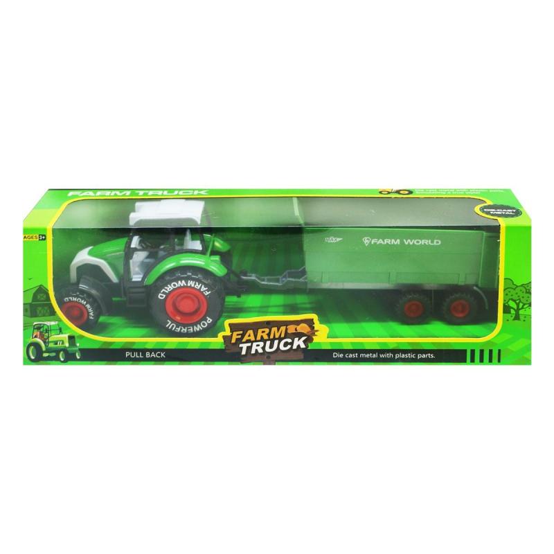 """Трактор Farm Truck с прицепом (зеленый) купить в магазине """"Пустун"""""""