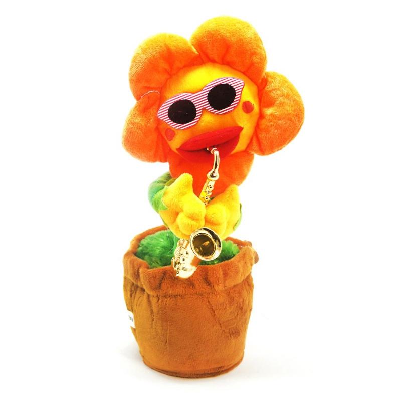 """Интерактивный цветок желтый купить в магазине """"Пустун"""""""
