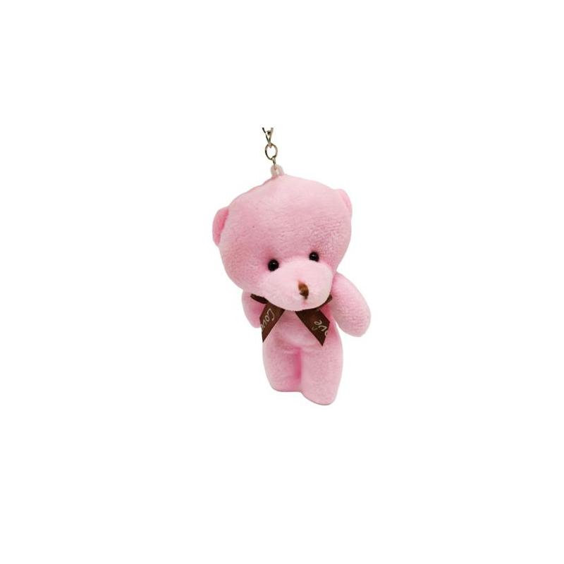 """Брелок плюшевый Мишка (розовый) купить в магазине """"Пустун"""""""