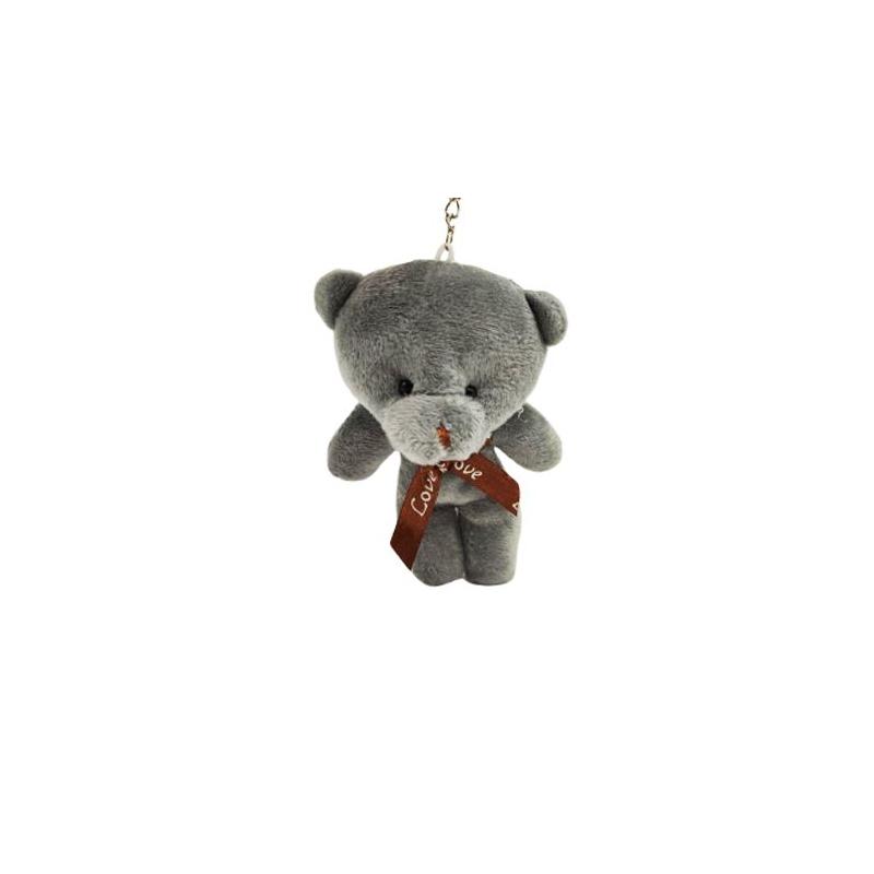 """Брелок плюшевый Мишка (серый) купить в магазине """"Пустун"""""""