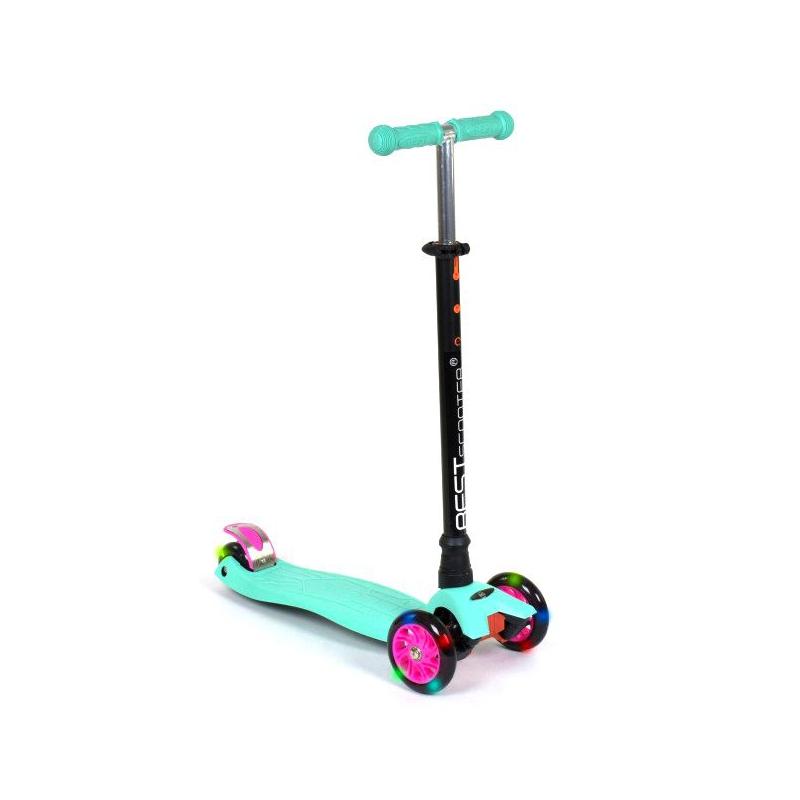 """Самокат трехколесный """"Best Scooter. MAXI"""" (бирюзовый) 466-113/А2461 купить в магазине """"Пустун"""""""