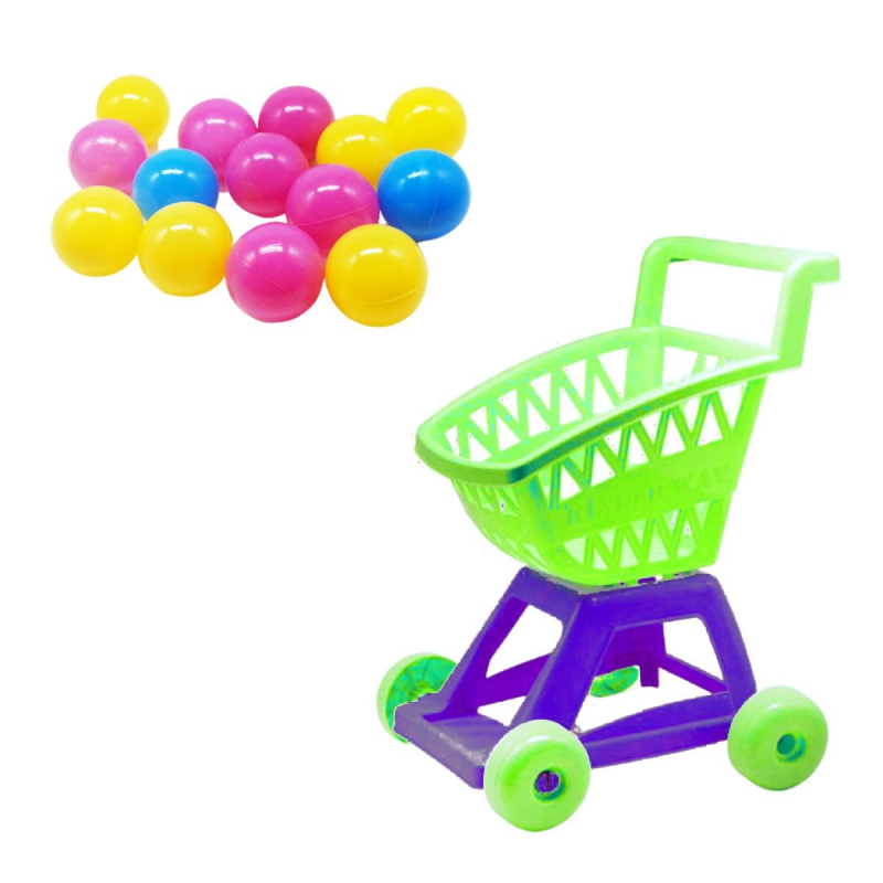 """Тележка с шариками (салатовый) KW-36-004 купить в магазине """"Пустун"""""""