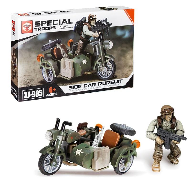 """Конструктор военный Special Troops с мотоциклом, 76 деталей купить в магазине """"Пустун"""""""