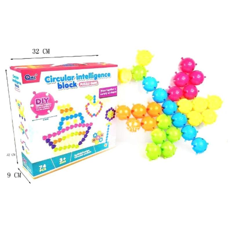 """Развивающая игрушка """"Circular Intelligence Block"""" 74 детали HC183392 купить в магазине """"Пустун"""""""