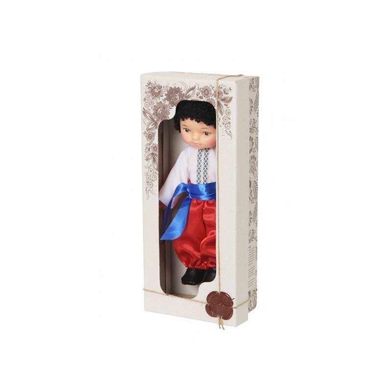"""Кукла Мальчик в вышиванке (белый) купить в магазине """"Пустун"""""""