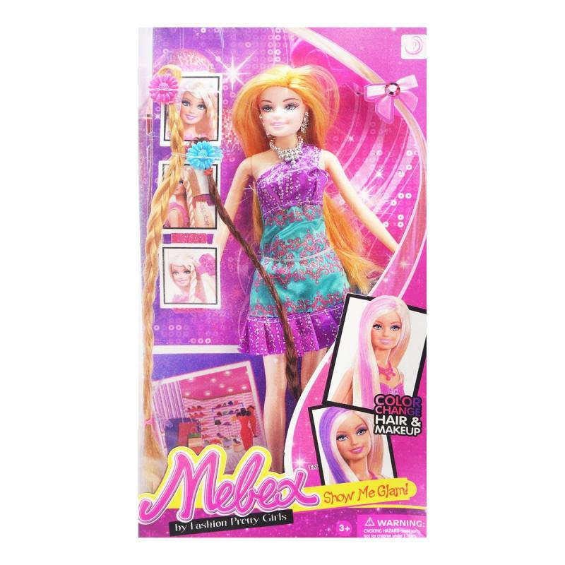 """Кукла с цветными прядями фиолетовый купить в магазине """"Пустун"""""""