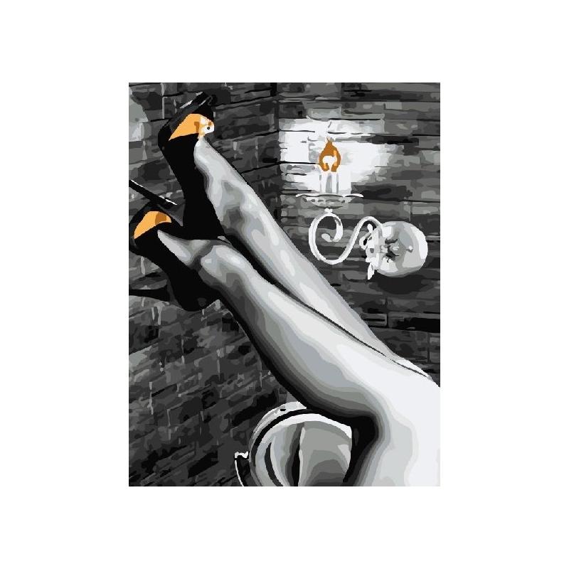 """Картина по номерам """"Женские ножки"""" ★★★ GX5005 купить в магазине """"Пустун"""""""