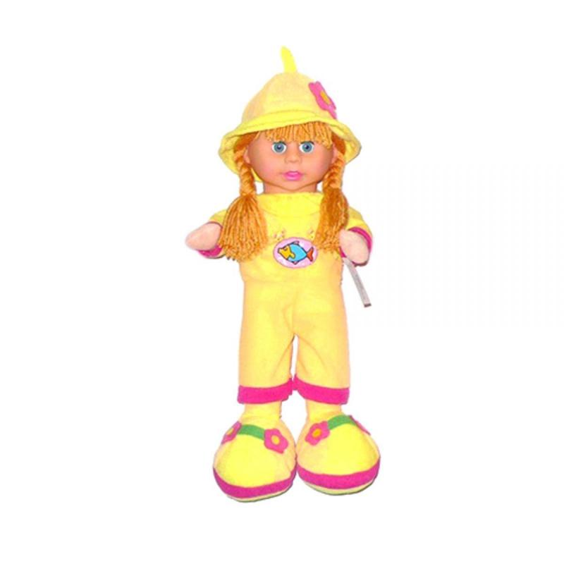 """Кукла мягкая с чепчиком желтый купить в магазине """"Пустун"""""""