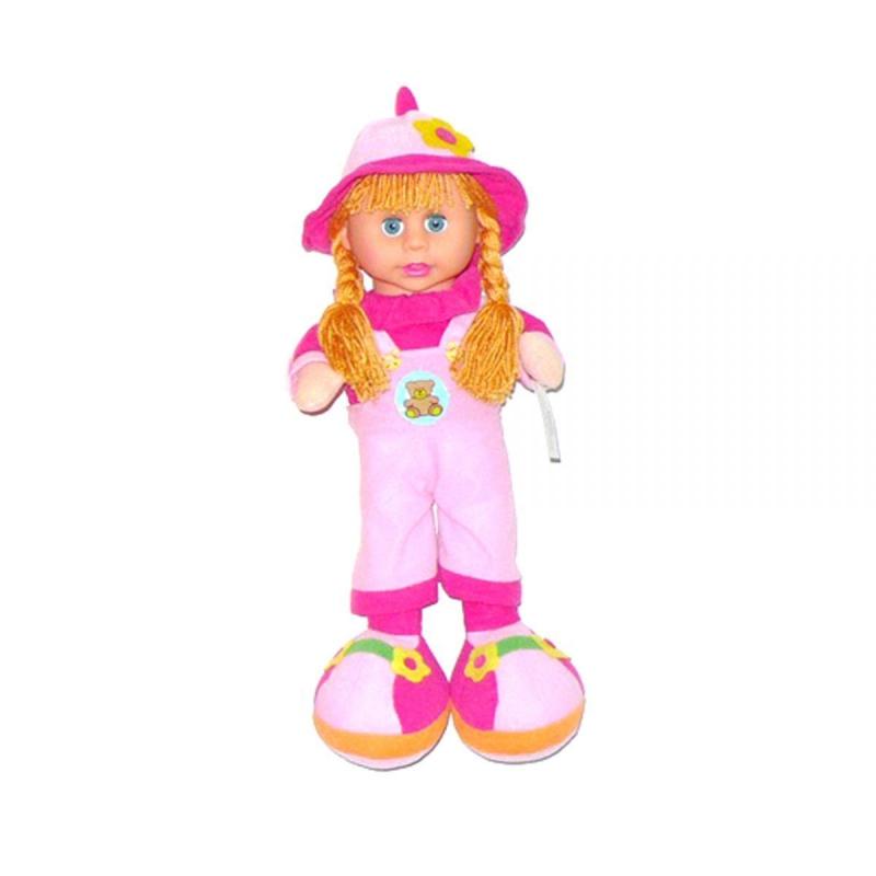 """Кукла мягкая с чепчиком розовый купить в магазине """"Пустун"""""""