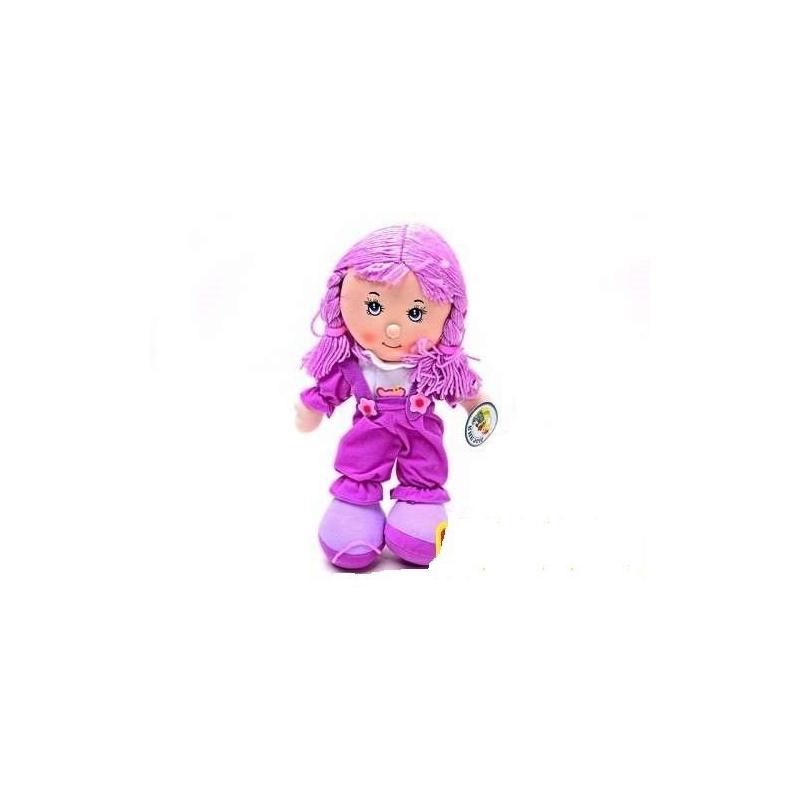 """Мягкая музыкальная кукла фиолетовый комбинезон купить в магазине """"Пустун"""""""