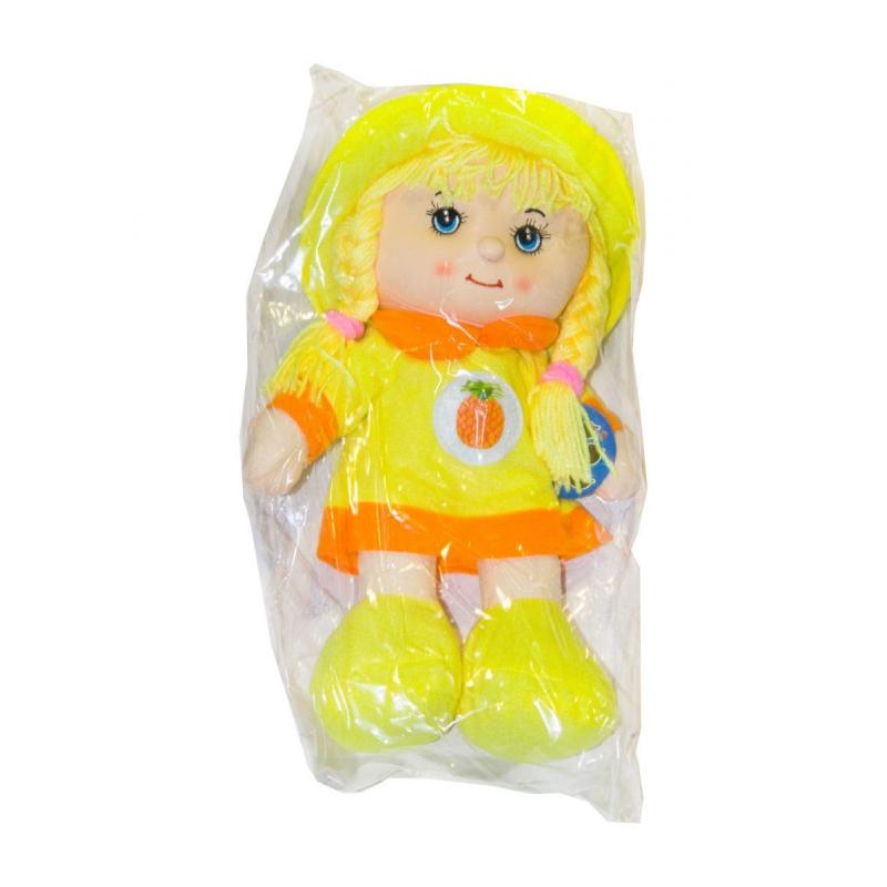"""Мягкая музыкальная кукла в капюшоне желтый купить в магазине """"Пустун"""""""
