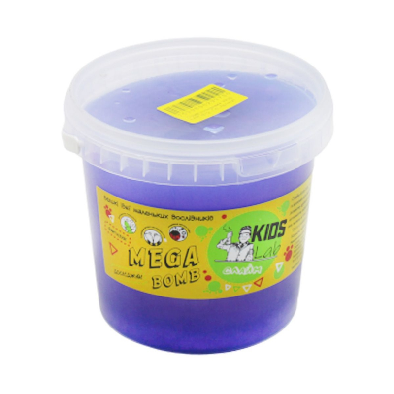 """Слайм Kids Lab Mega Bomb №12 1 кг синий купить в магазине """"Пустун"""""""