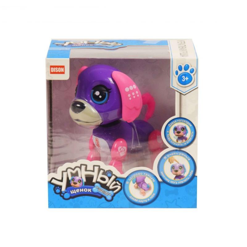 """Интерактивная игрушка """"Умный щенок"""" (фиолетово-розовый) E5599-1 купить в магазине """"Пустун"""""""