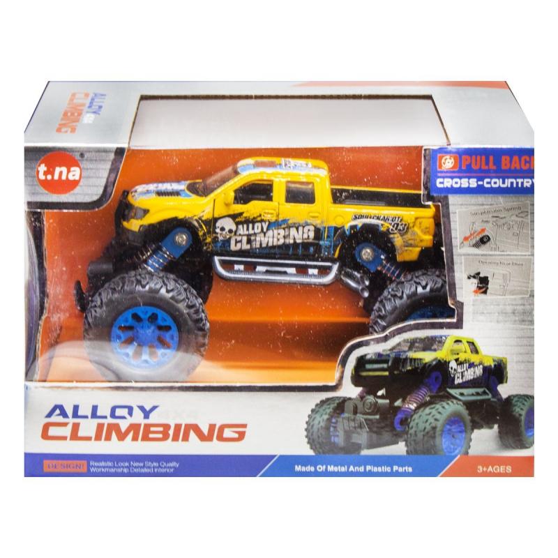 """Металлическая машинка Alloy Climbing 4x инерционная (желтый) купить в магазине """"Пустун"""""""
