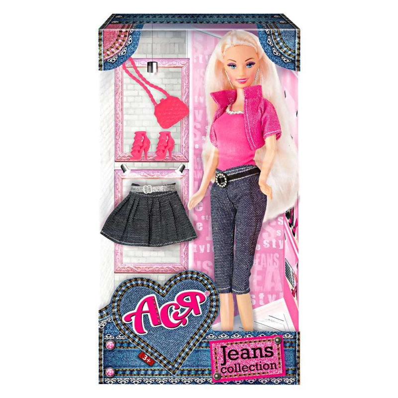 """Кукла Ася с аксессуарами """"Jeans Collection"""" (блондинка) 35089 купить в магазине """"Пустун"""""""