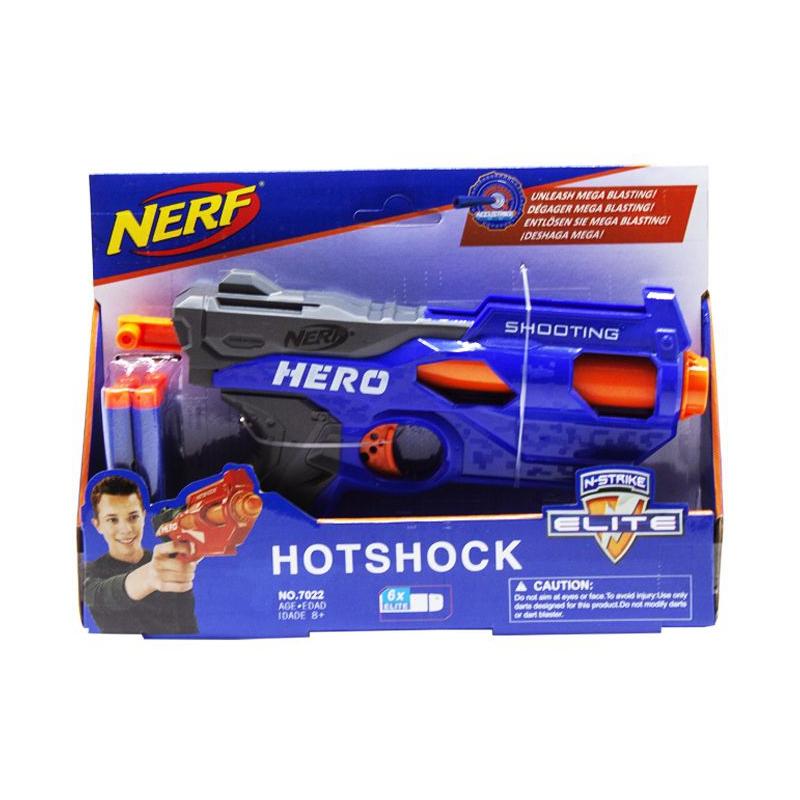 """Бластер NERF: Hotshock (синий) купить в магазине """"Пустун"""""""