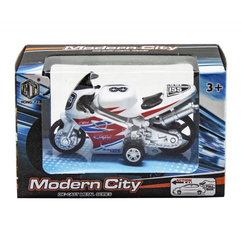 """Мотоцикл Modern City белый купить в магазине """"Пустун"""""""