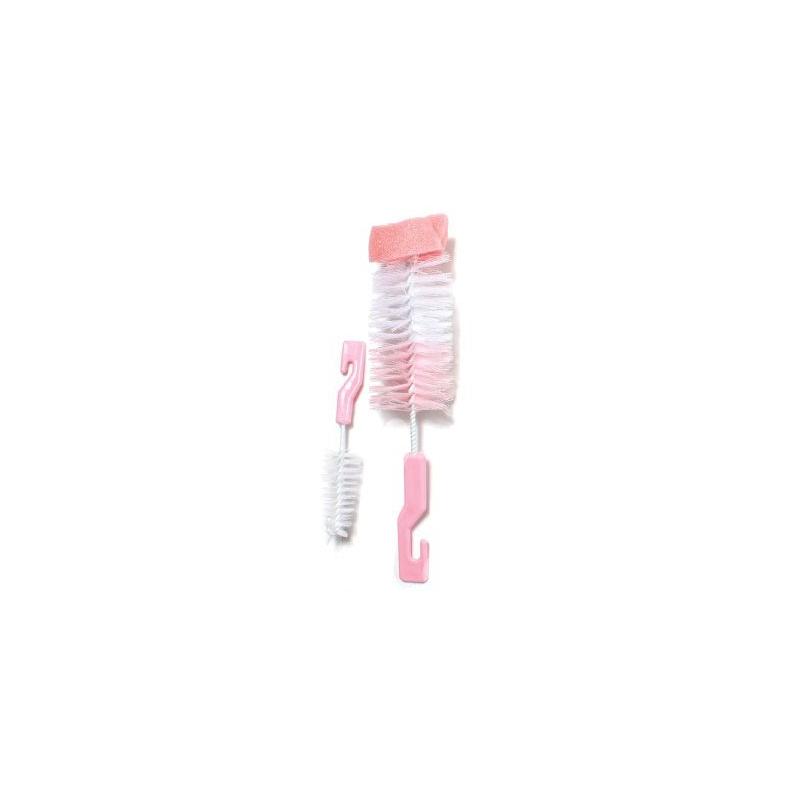 """Щеточка для мытья бутылочек (розовая) РК 014-А купить в магазине """"Пустун"""""""