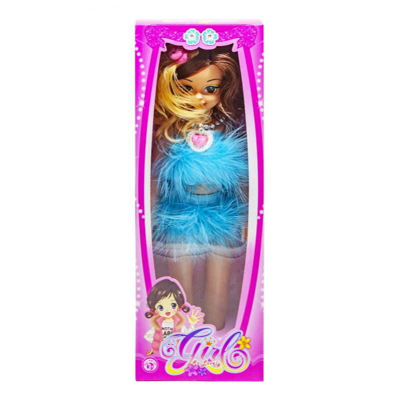 """Музыкальная кукла Модница в голубом платье купить в магазине """"Пустун"""""""