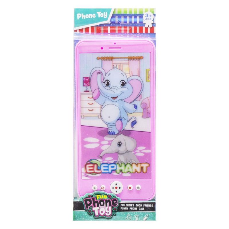 """Телефон Fun Phone Toy музыкальный (розовый) купить в магазине """"Пустун"""""""