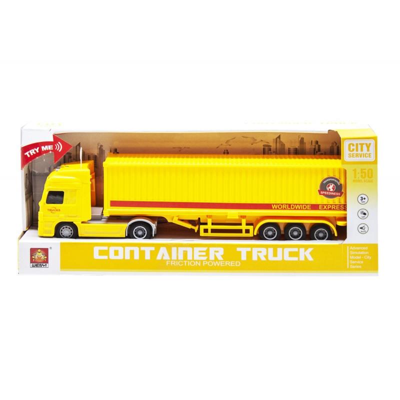 "Трейлер Container truck (желтый) купить в магазине ""Пустун"""