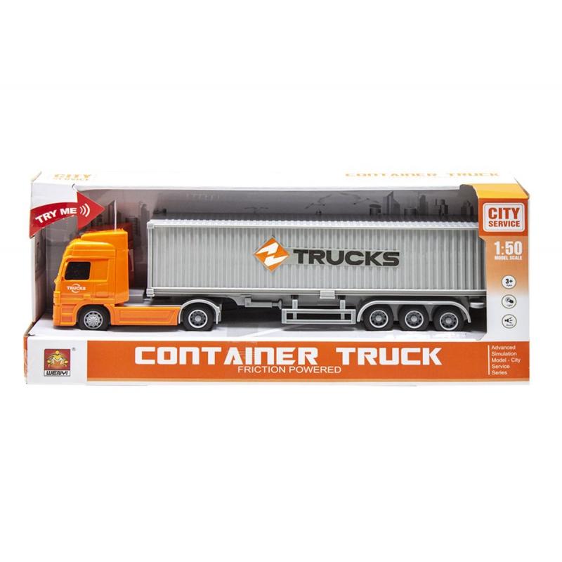 """Трейлер Container truck (оранжевый) купить в магазине """"Пустун"""""""