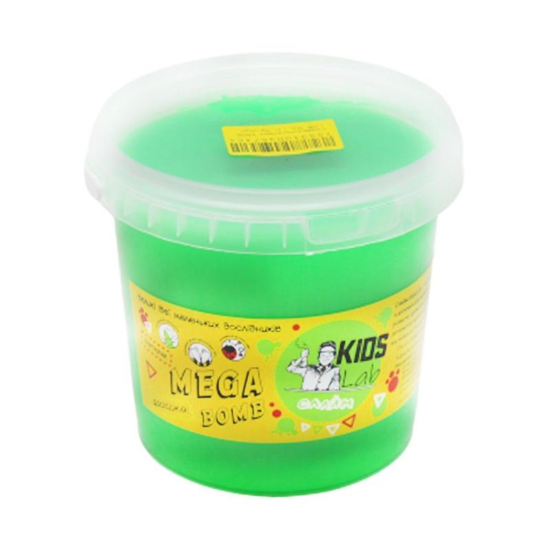 """Слайм Kids Lab Mega Bomb №2 1 кг салатовый купить в магазине """"Пустун"""""""