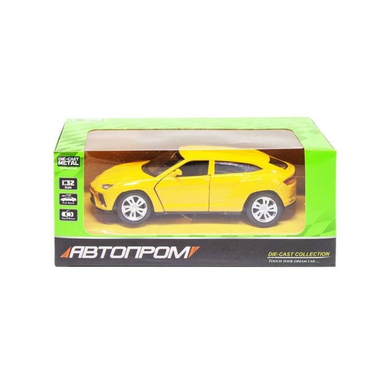 """Машинка Lamborghini из серии Автопром желтый купить в магазине """"Пустун"""""""