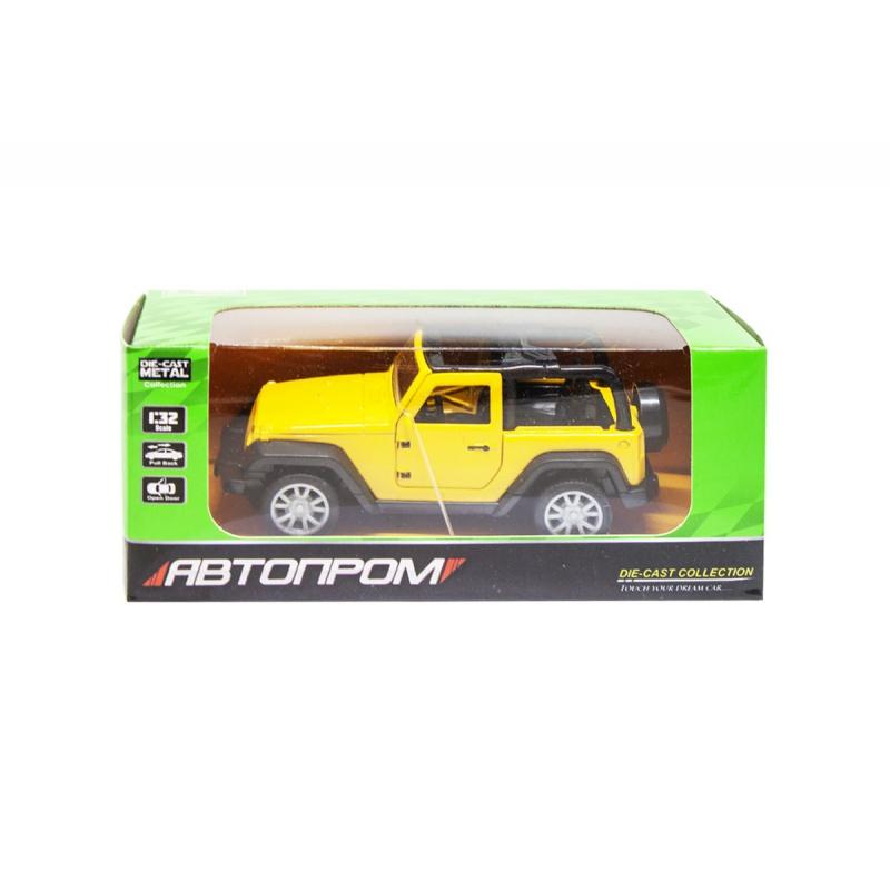 """Машинка Jeep из серии Автопром (желтый) купить в магазине """"Пустун"""""""