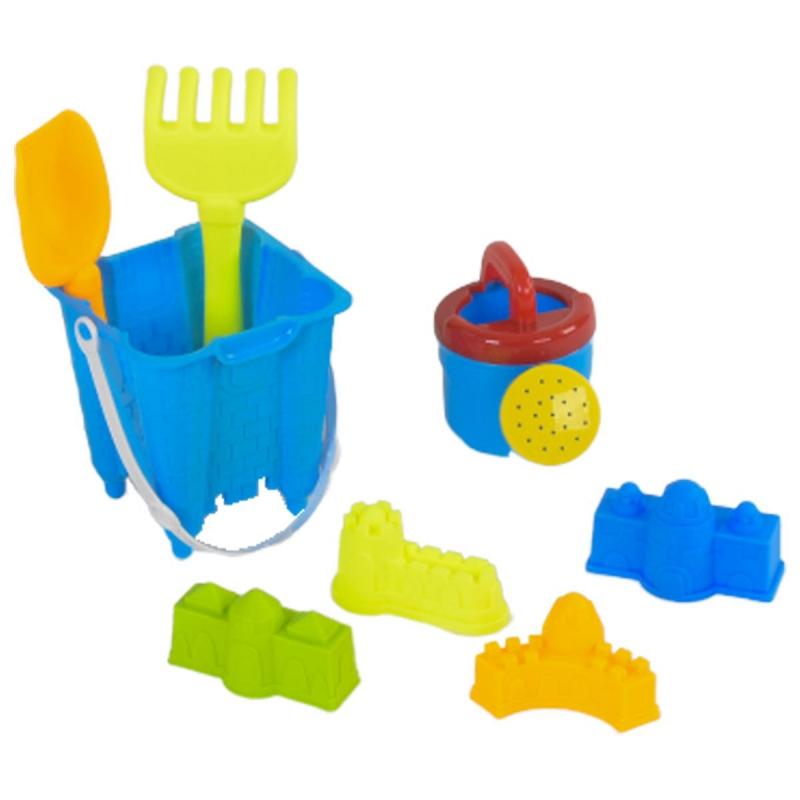 """Песочный набор с леечкой и 4-мя пасочками (синий) 6121-2 купить в магазине """"Пустун"""""""