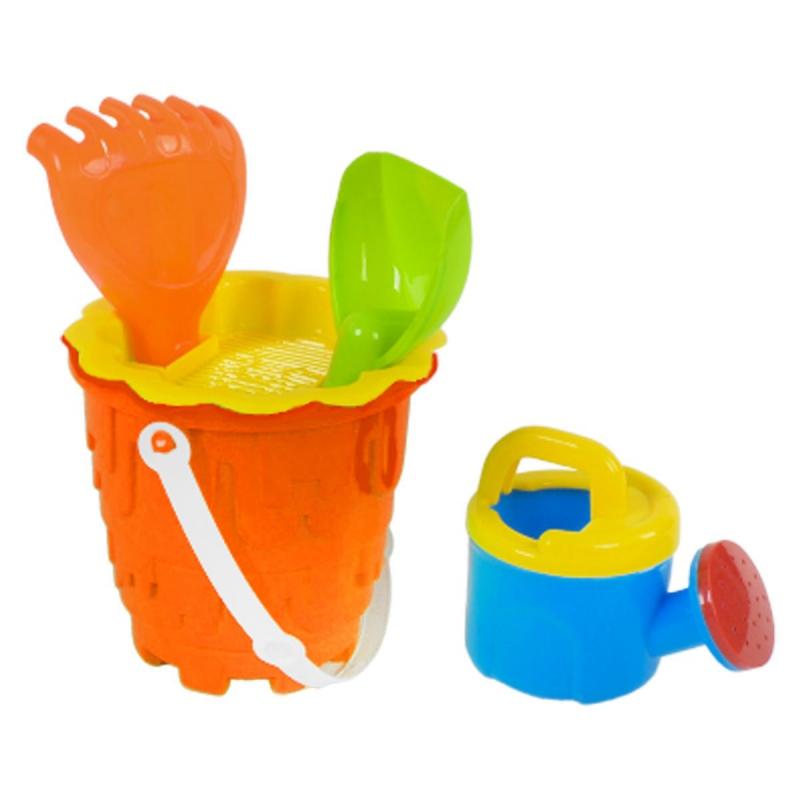 """Песочный набор с леечкой (оранжевый) 6122-2 купить в магазине """"Пустун"""""""