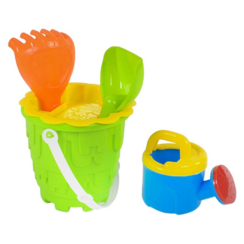 """Песочный набор с леечкой (зелёный) 6122-2 купить в магазине """"Пустун"""""""