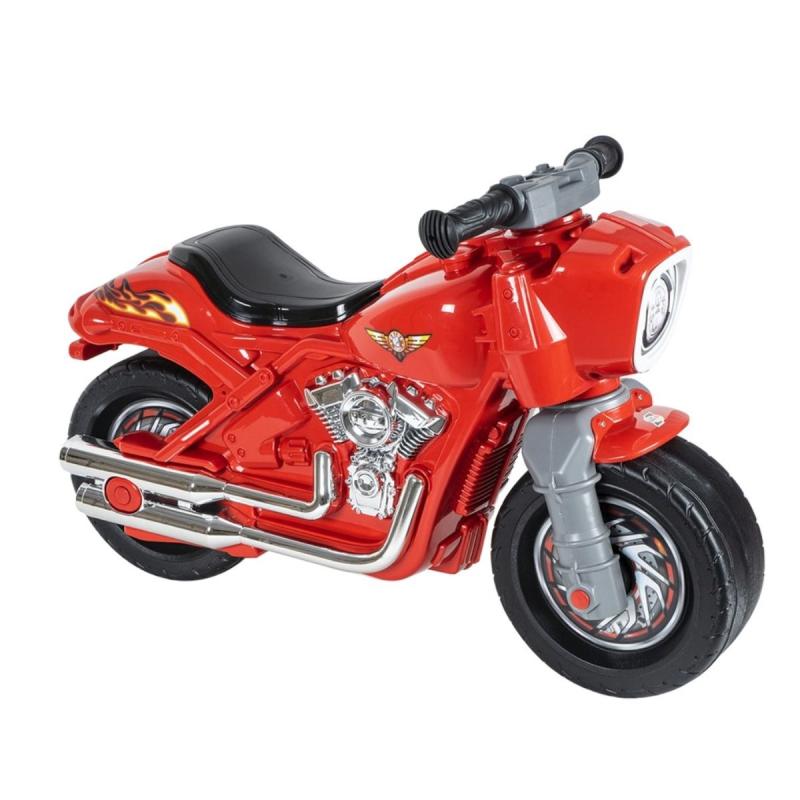 """Мотоцикл 2-х колесный с сигналом красный 504_К купить в магазине """"Пустун"""""""