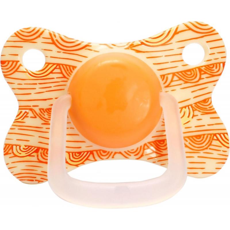 """Пустышка с прикусом. До 6 мес оранжевый LI 406/0-6 купить в магазине """"Пустун"""""""