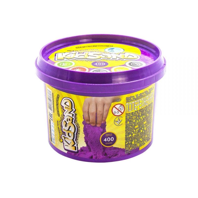 """Кинетический песок """"KidSand"""", фиолетовый, 400г KS-01-06 купить в магазине """"Пустун"""""""