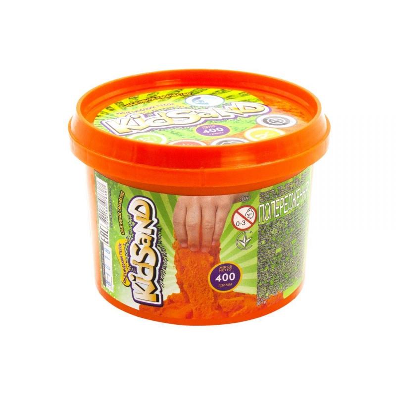 """Кинетический песок """"KidSand"""", оранжевый, 400г KS-01-06 купить в магазине """"Пустун"""""""