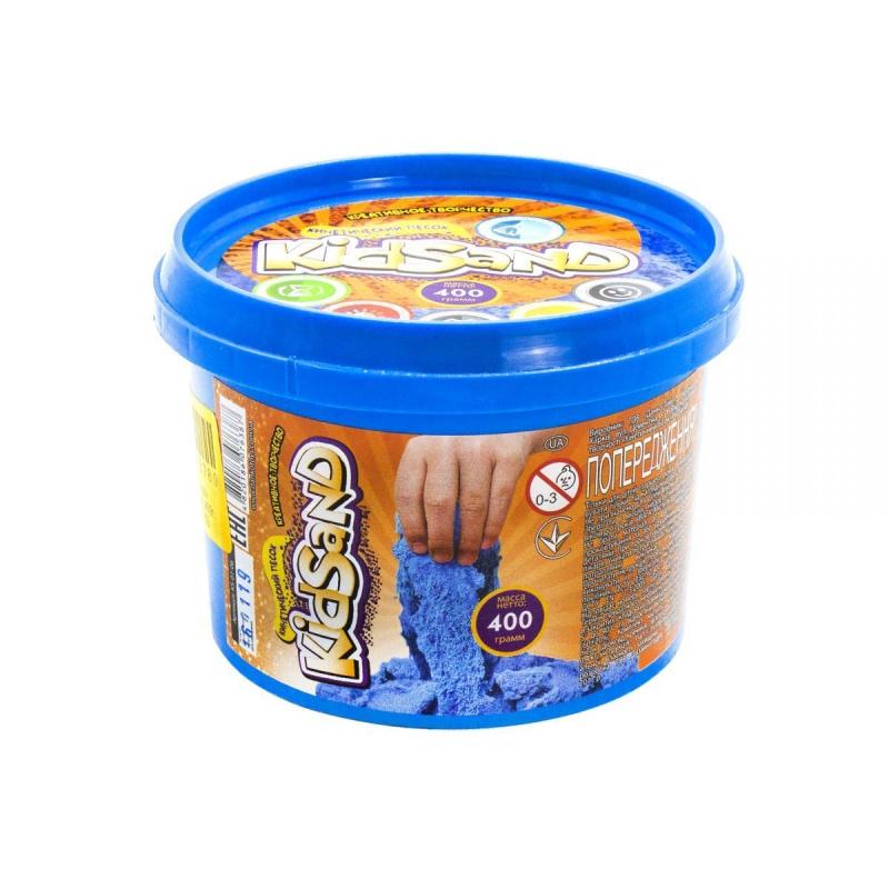 """Кинетический песок """"KidSand"""", голубой, 400г KS-01-06 купить в магазине """"Пустун"""""""