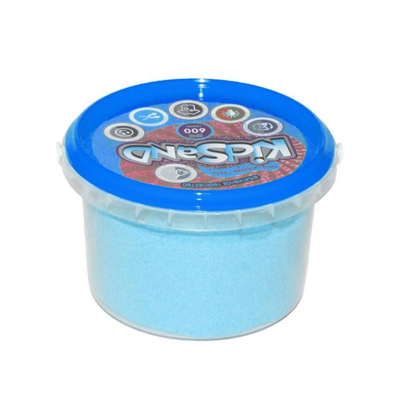 """Кинетический песок """"KidSand"""", голубой, 600 г KS-01-05 купить в магазине """"Пустун"""""""