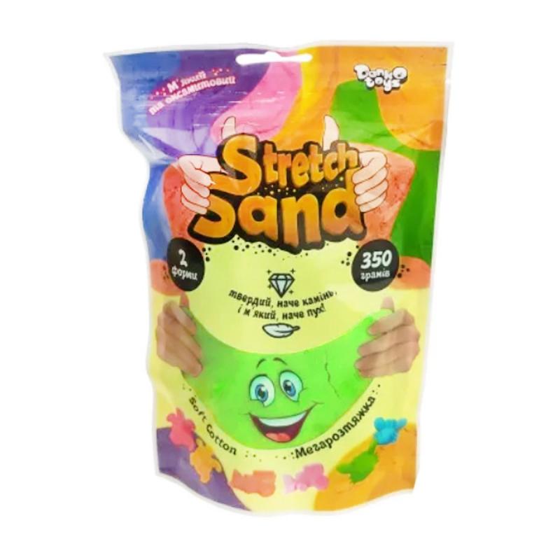 """Кинетический песок """"Stretch Sand"""" укр 350 г салатовый STS-04-02U купить в магазине """"Пустун"""""""