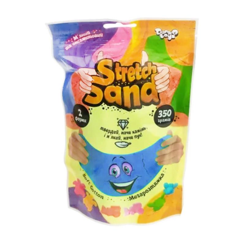 """Кинетический песок """"Stretch Sand"""" укр 350 г синий STS-04-02U купить в магазине """"Пустун"""""""