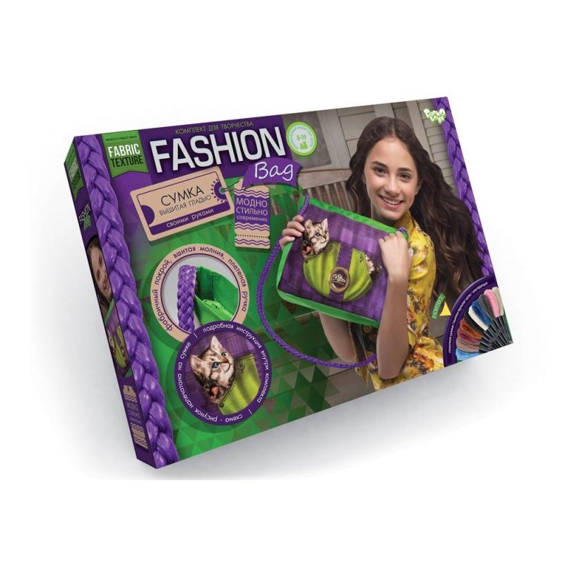 """Вышивка гладью """"Fashion Bag: Котёнок"""" FBG-01-05 купить в магазине """"Пустун"""""""