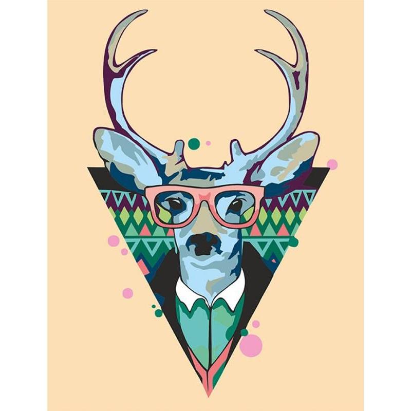 """Картина по номерам """"Cool deer"""" ★★☆ N0001364 купить в магазине """"Пустун"""""""