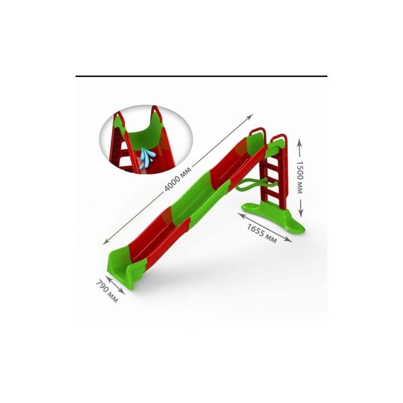 """Горка для катания 400 см красно-зеленая 01450/3 купить в магазине """"Пустун"""""""