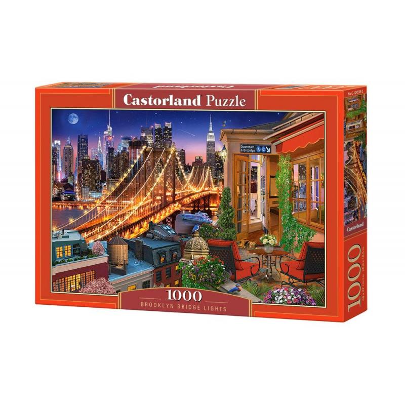 """Пазлы """"Огни Бруклинского моста"""", 1000 элементов C-104598 купить в магазине """"Пустун"""""""