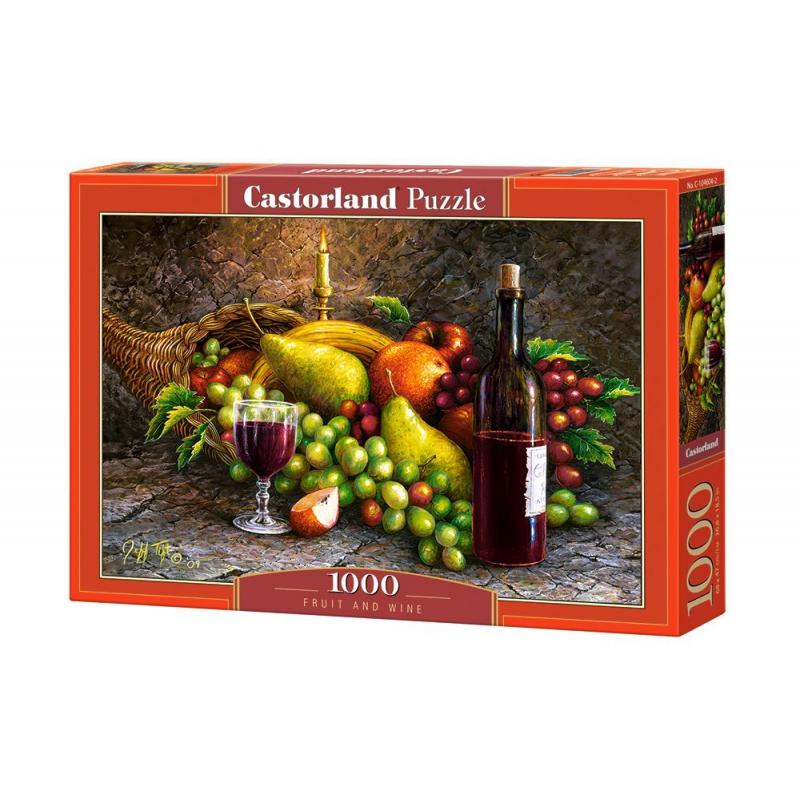 """Пазлы """"Фрукты и вино"""", 1000 элементов C-104604 купить в магазине """"Пустун"""""""
