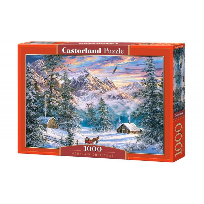 """Пазлы """"Рождество в горах"""", 1000 элементов C-104680 купить в магазине """"Пустун"""""""