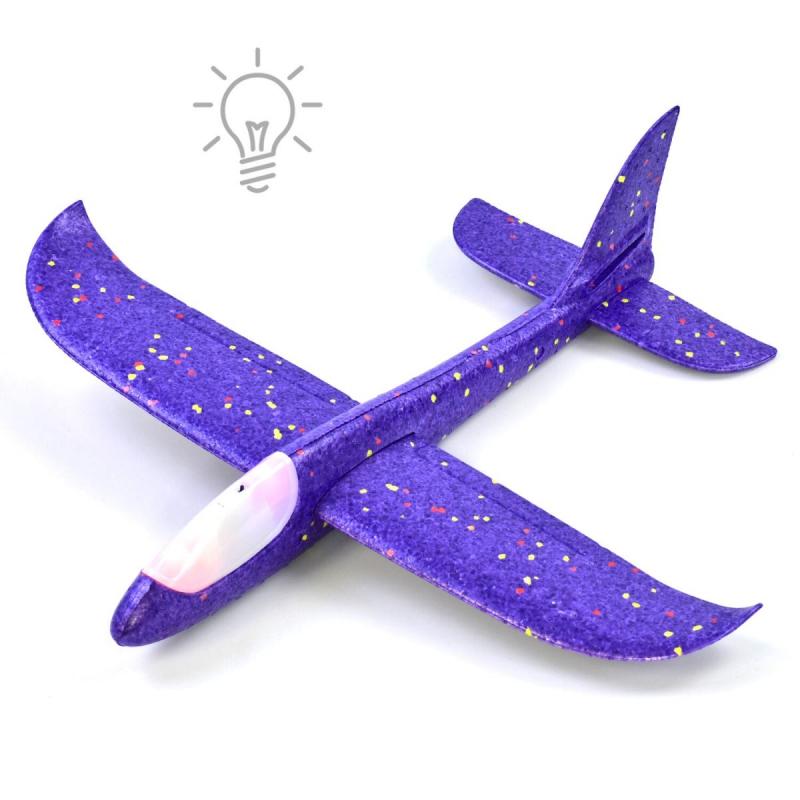 """Метательный планер с подсветкой """"Пенолет"""" 48 см (фиолетовый) C39954 купить в магазине """"Пустун"""""""